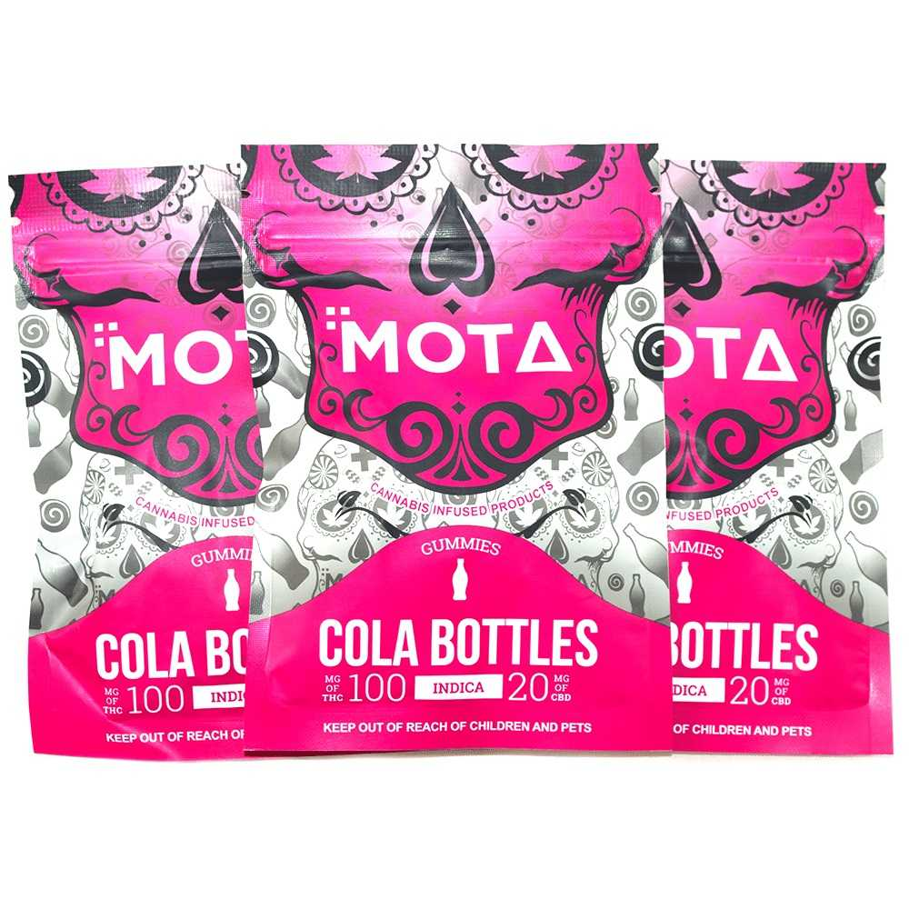 MOTA Indica Cola Bottle Gummies 100MG THC