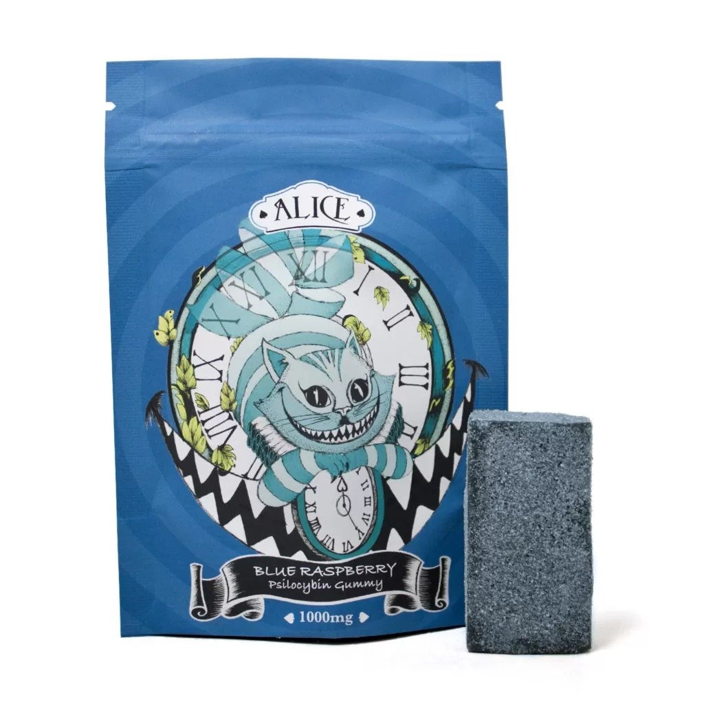Alice – Blue Raspberry Mushroom Gummy 1000mg