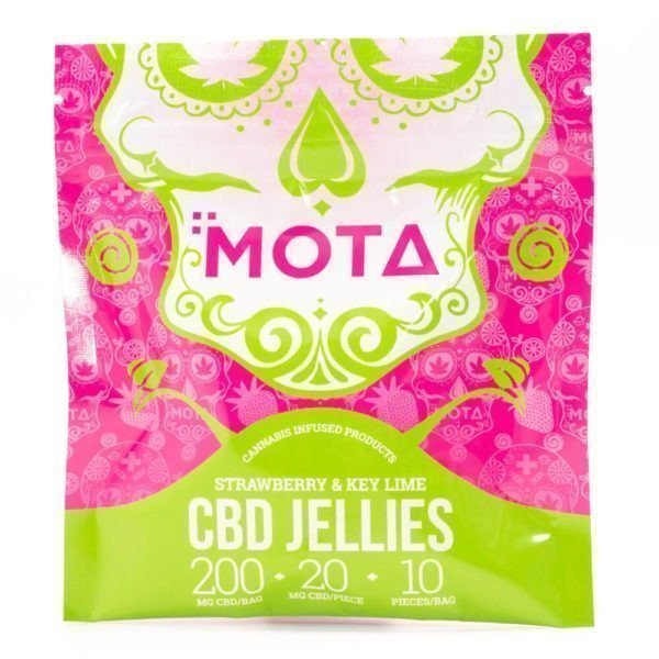 200mg CBD Strawberry and Key Lime Jellies (Mota)