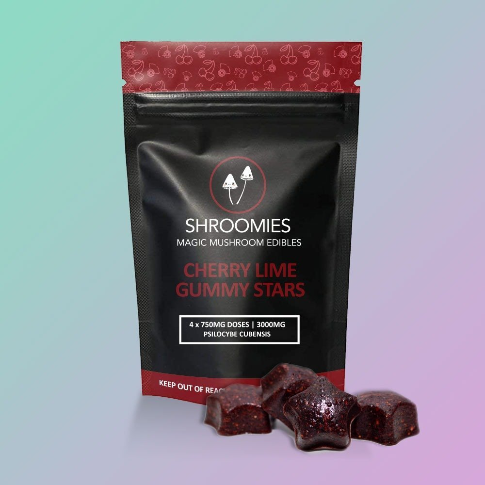 SHROOMIES CHERRY LIME GUMMY STARS – 3000MG