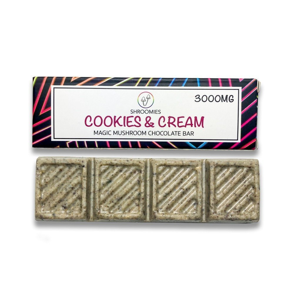 SHROOMIES COOKIES AND CREAM CHOCOLATE BAR – 3000MG