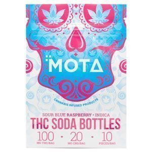 Mota THC Blue Raspberry Soda Bottles (300mg THC)