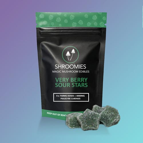 SHROOMIES VERY BERRY SOUR STARS – 3000MG
