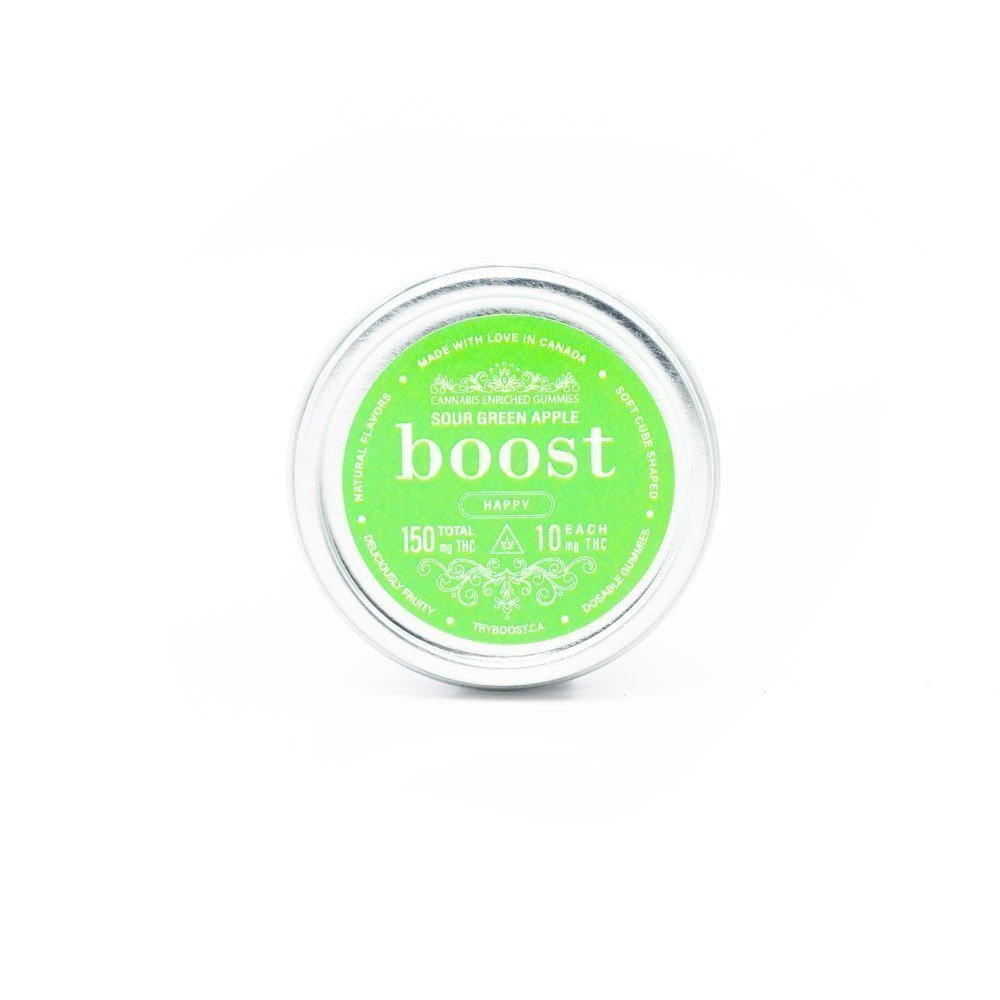 Boost Edibles – Sour Green Apple 150mg THC Cubes