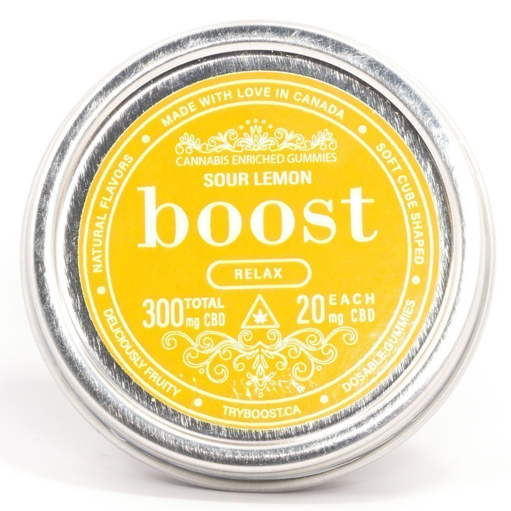 Boost Edibles – Sour Lemon 300mg CBD Cubes