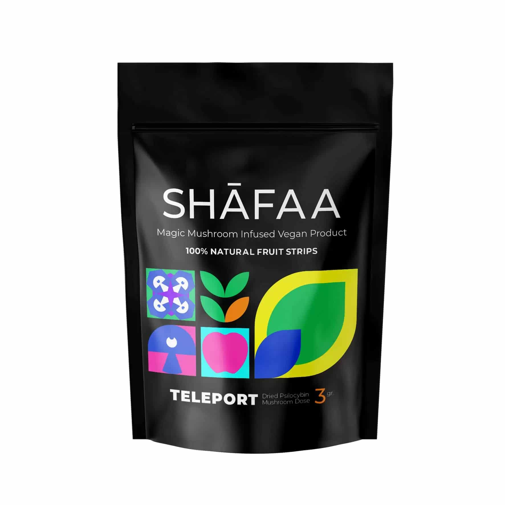 Shafaa Teleport Macrodose Magic Mushroom Vegan Fruit Strips – 3G