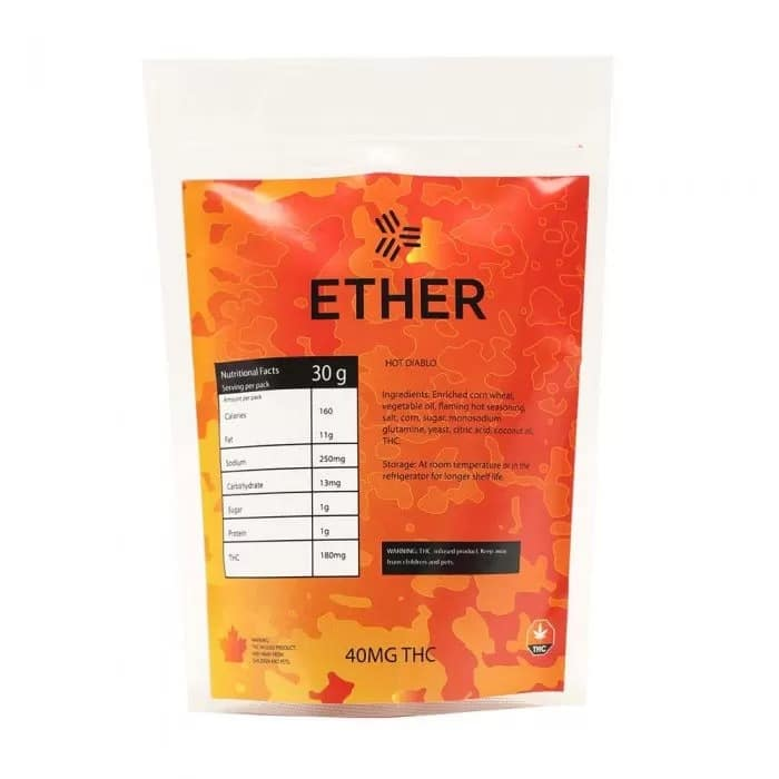 Ether Edibles – Hot Diablo Chips (40mg THC)