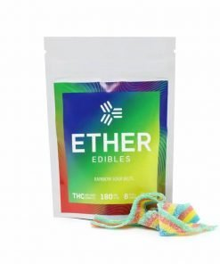Ether Edibles Rainbow Sour Belts (180mg THC)