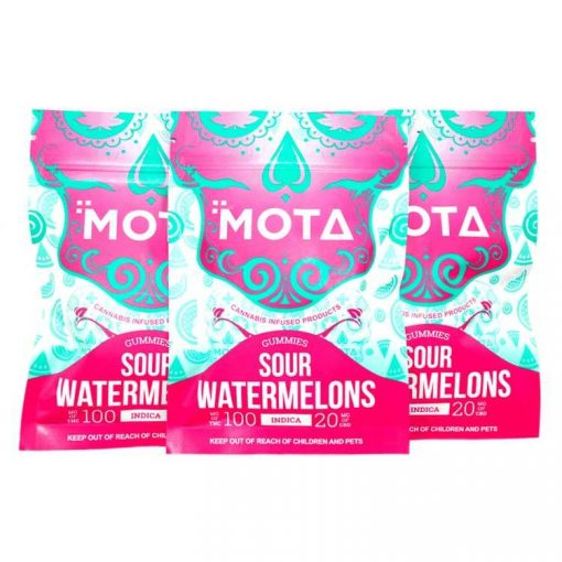 MOTA Indica Sour Watermelons 100MG THC